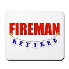 Retired Fireman Mousepad