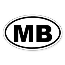 MB Myrtle Beach, SC Euro Oval Decal