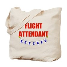 Retired Flight Attendant Tote Bag