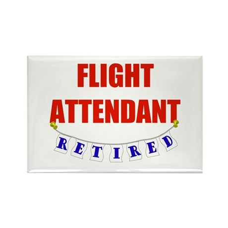 Retired Flight Attendant Rectangle Magnet