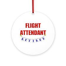 Retired Flight Attendant Ornament (Round)