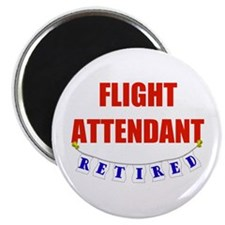 Retired Flight Attendant Magnet