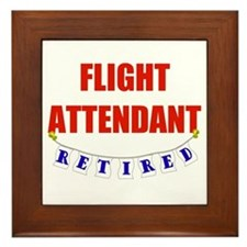 Retired Flight Attendant Framed Tile