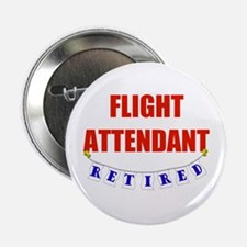 "Retired Flight Attendant 2.25"" Button"