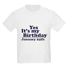 January 24th Birthday T-Shirt