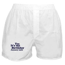 January 24th Birthday Boxer Shorts