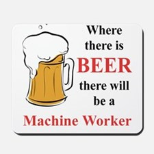Machine Worker Mousepad