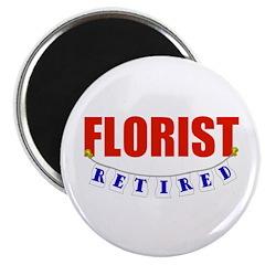 """Retired Florist 2.25"""" Magnet (100 pack)"""