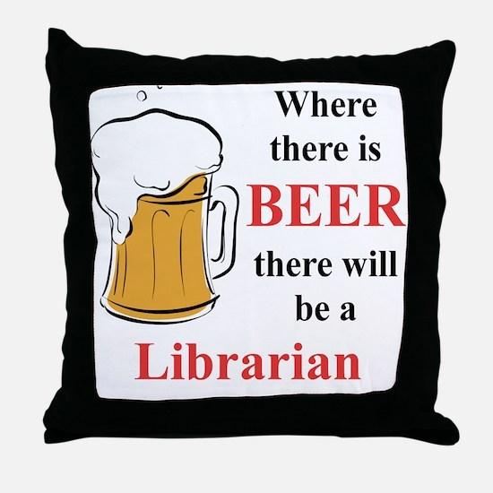 Librarian Throw Pillow