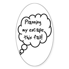 Planning Escape (Fall) Oval Decal
