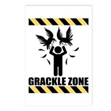 Grackle Zone Warning Postcards (Package of 8)