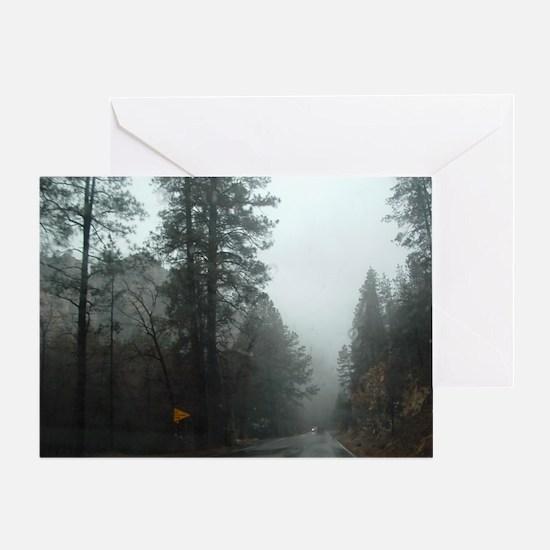 Storm in Oak Creek Canyon Greeting Card