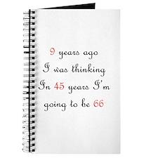 30th birthday math Journal