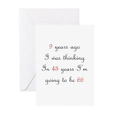 30th birthday math Greeting Card
