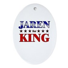 JAREN for king Oval Ornament
