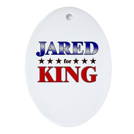 JARED for king Oval Ornament