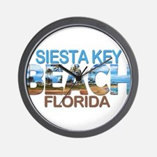 Summer siesta key- florida Wall Clock