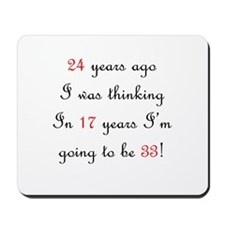 40th birthday math Mousepad