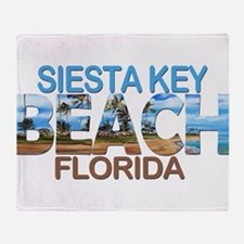 Summer siesta key- florida Throw Blanket