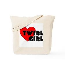 Twirl Girl Heart Tote Bag