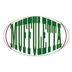 Muffuletta Oval Decal