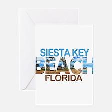 Summer siesta key- florida Greeting Cards