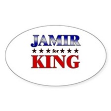 JAMIR for king Oval Decal