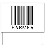 Farmer Barcode Yard Sign