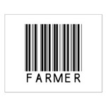 Farmer Barcode Small Poster