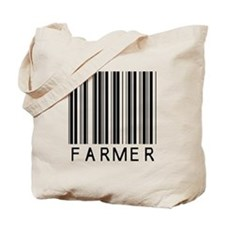 Farmer Barcode Tote Bag