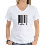 Farmer Barcode Women's V-Neck T-Shirt