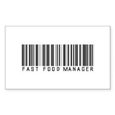 Fast Food Mgr Barcode Rectangle Decal