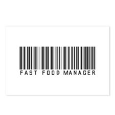 Fast Food Mgr Barcode Postcards (Package of 8)