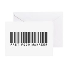 Fast Food Mgr Barcode Greeting Card