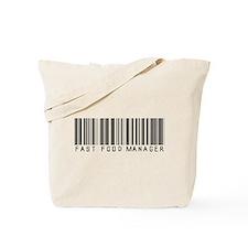 Fast Food Mgr Barcode Tote Bag