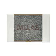 Dallas Rectangle Magnet