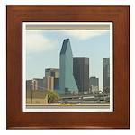 Dallas Skyline #1 Framed Tile
