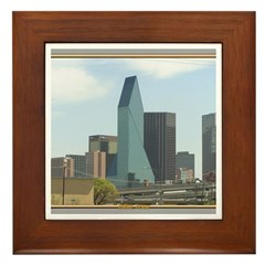 Dallas Skyline #1 Framed Tile
