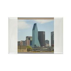 Dallas Skyline #1 Rectangle Magnet