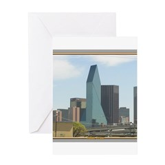 Dallas Skyline #1 Greeting Card