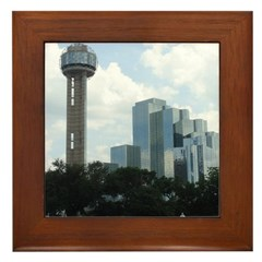 Dallas Skyline #2 Framed Tile