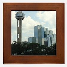Dallas Skyline #2 Framed Tile