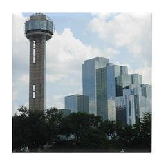 Dallas Skyline #2 Tile Coaster