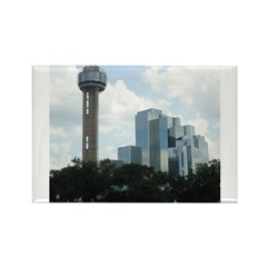 Dallas Skyline #2 Rectangle Magnet