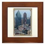 Dallas Skyline #3 Framed Tile
