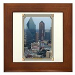 Dallas Skyline #3 Framed Tile