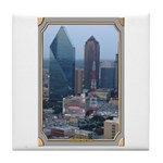 Dallas Skyline #3 Tile Coaster