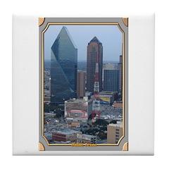 Dallas Skyline #3 Tile Coaster