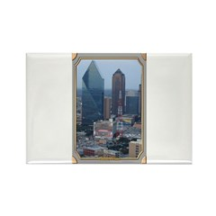 Dallas Skyline #3 Rectangle Magnet
