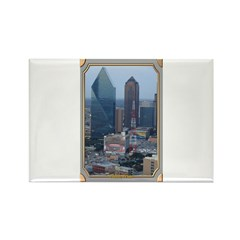 Dallas Skyline #3 Rectangle Magnet